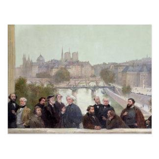 Cartão Postal Retratos de artistas franceses e de autores