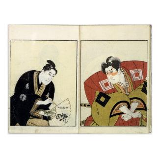 Cartão Postal Retratos de dois atores, 1803