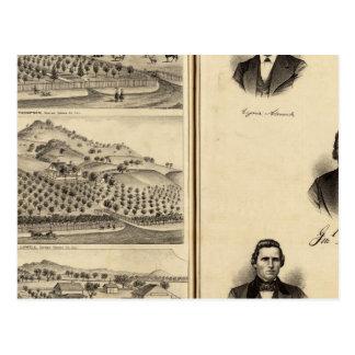 Cartão Postal Retratos de Gen'l MG Vallejo, F Bedwell, liço do