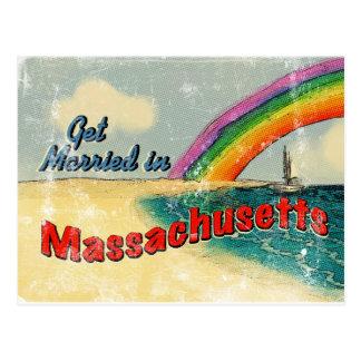 Cartão Postal Retro case-se em Massachusetts
