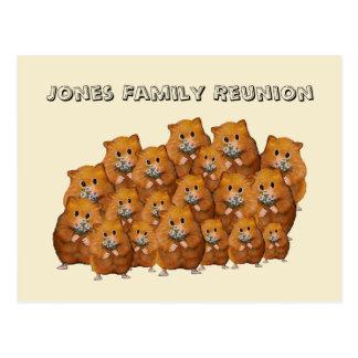 Cartão Postal Reunião de família, multidão de Hamters bonito,