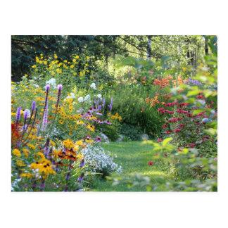 Cartão Postal Reunião de três jardins secretos