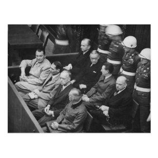 Cartão Postal Réus do Nazi que sentam-se nas experimentações de