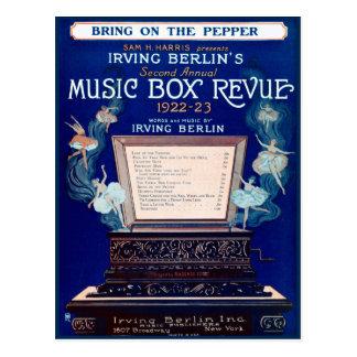 Cartão Postal Revisão 1922 da caixa de música de Irving Berlin