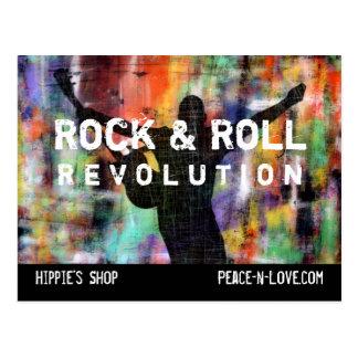 Cartão Postal Revolução da rocha & do rolo
