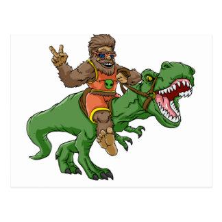 Cartão Postal rex bigfoot do rex-T dos bigfoot-desenhos animados