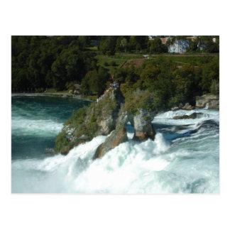 Cartão Postal Rhine Falls cénico na suiça