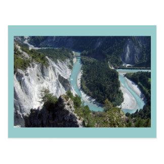 Cartão Postal Rhine no desfiladeiro, Graubünden