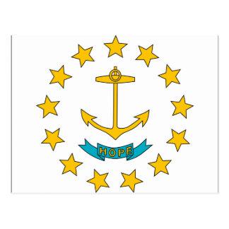 Cartão Postal Rhode - bandeira da ilha