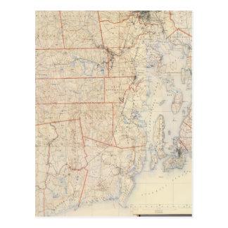 Cartão Postal Rhode composto - mapa da ilha