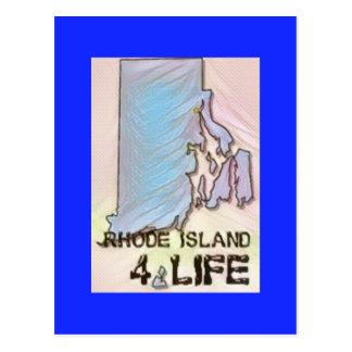 """Cartão Postal """"Rhode - design do orgulho do mapa do estado da"""