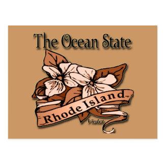 Cartão Postal Rhode - ilha a violeta do estado do oceano