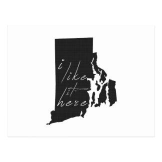 Cartão Postal Rhode - ilha eu gosto d indico aqui o preto da