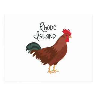 Cartão Postal Rhode - pássaro de estado vermelho da galinha da