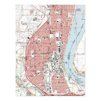 Cartão Postal Richland Washington Mapa (1992)