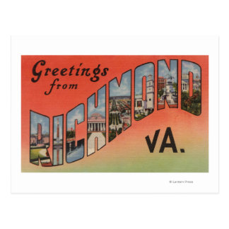 Cartão Postal Richmond, Virgínia - grandes cenas 3 da letra