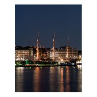 Cartão Postal Rickmer Rickmers na noite