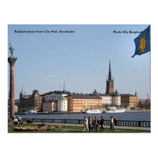 Cartão Postal Riddarholmen da câmara municipal, rua…