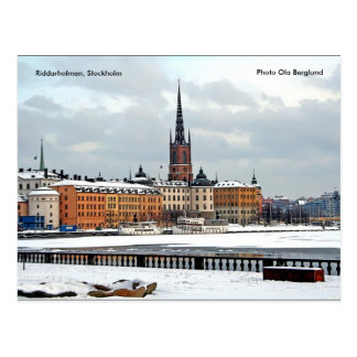 Cartão Postal Riddarholmen, Éstocolmo, foto O…