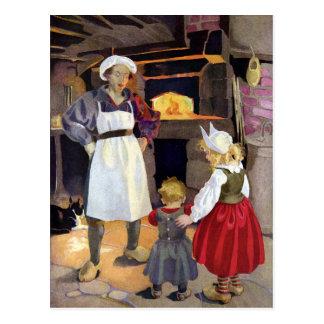 Cartão Postal Rima de berçário do padeiro e das crianças do