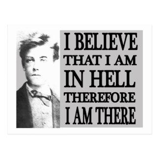 Cartão Postal Rimbaud no inferno