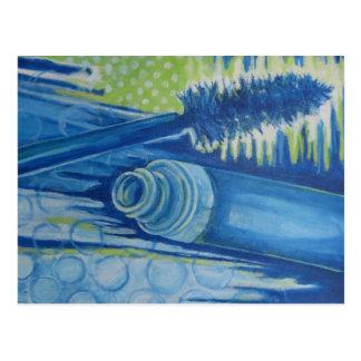 Cartão Postal Rímel azul elétrico