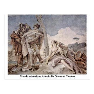 Cartão Postal Rinaldo abandona Armida por Giovanni Tiepolo