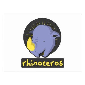 Cartão Postal rinoceronte bonito