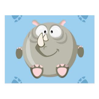 Cartão Postal Rinoceronte bonito do círculo
