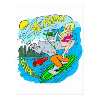 Cartão Postal Rinoceronte de Yo!!!!