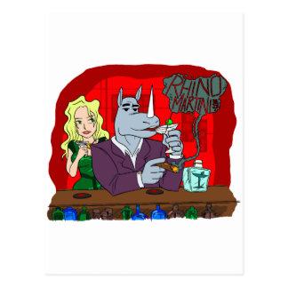 Cartão Postal Rinoceronte Martini