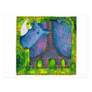 Cartão Postal Rinoceronte modelado