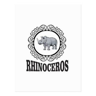 Cartão Postal Rinoceronte na caneca