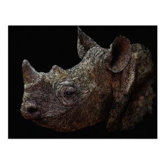 Cartão Postal Rinoceronte preto