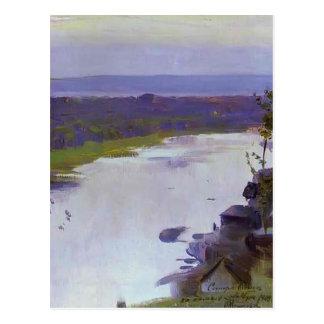 Cartão Postal Rio Belaya de Mikhail Nesterov-