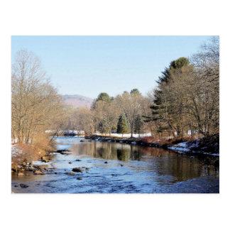 Cartão Postal Rio de Ashuelot em Swanzey, New Hampshire