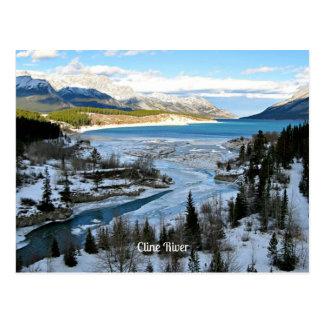 Cartão Postal Rio de Cline, Alberta, Canadá