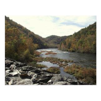 Cartão Postal Rio de Hiwassee na central eléctrica do Appalachia