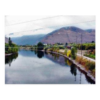 Cartão Postal Rio de Missoula da forquilha de Clark