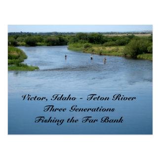 Cartão Postal Rio de Teton, Idaho