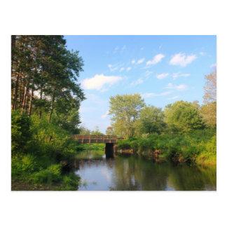 Cartão Postal Rio dos moleiros perto do lago Dennison,
