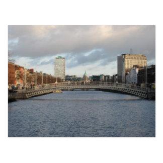 Cartão Postal Rio Liffey Ireland Dublin