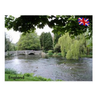 Cartão Postal Rio Rye, distrito máximo, Derbyshire, Inglaterra
