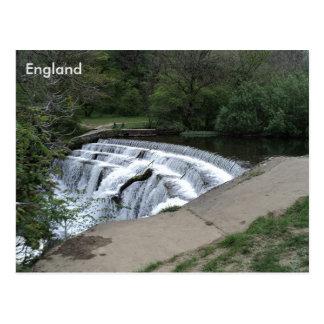 Cartão Postal Rio Rye do Weir, distrito máximo, Derbyshire,