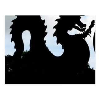 Cartão Postal Risco do dragão