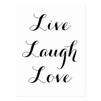 Cartão Postal - Riso - amor vivo