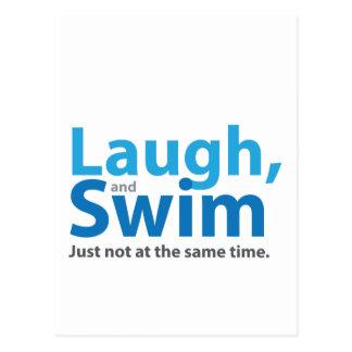 Cartão Postal Riso e natação… mas não ao mesmo tempo