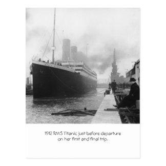 Cartão Postal RMS titânico antes da partida 1912