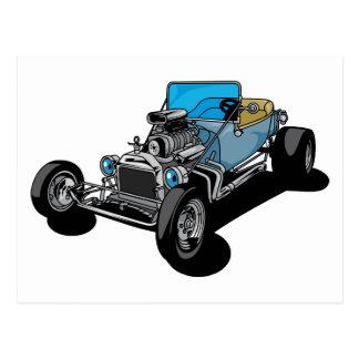 Cartão Postal Roadster azul