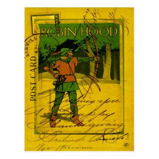 Cartão Postal Robin Hood, seu arco e seta